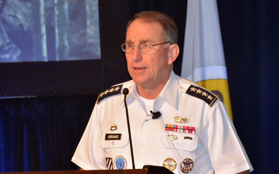 Gen. Robert Abrams, commander of U.S. Forces Korea, told a symposium audience in Honolulu, May 22, 2019, that the combined U.S.-South Korean military force has suffered no loss of readiness with the suspension of large-scale exercises last year.