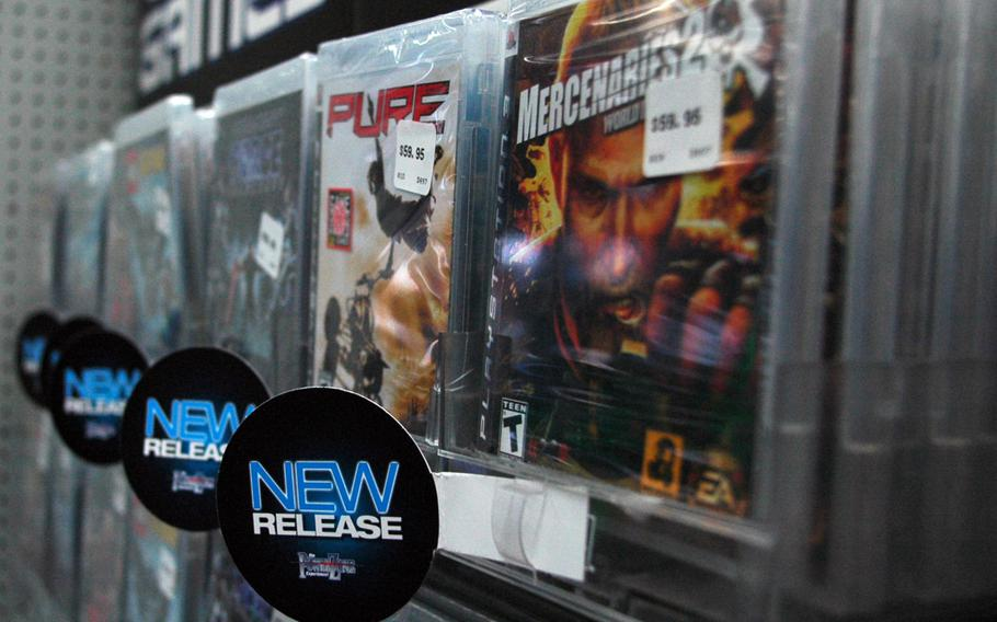 The Army and Air Force Exchange Service is removing DVDs, Blu-rays and video games from its stores and online by the end of the year.