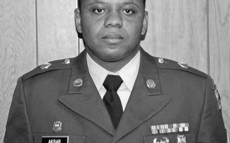 Sgt. Hasan Akbar is shown in an undated photo released by the U.S. Army, Aug. 25, 2004.