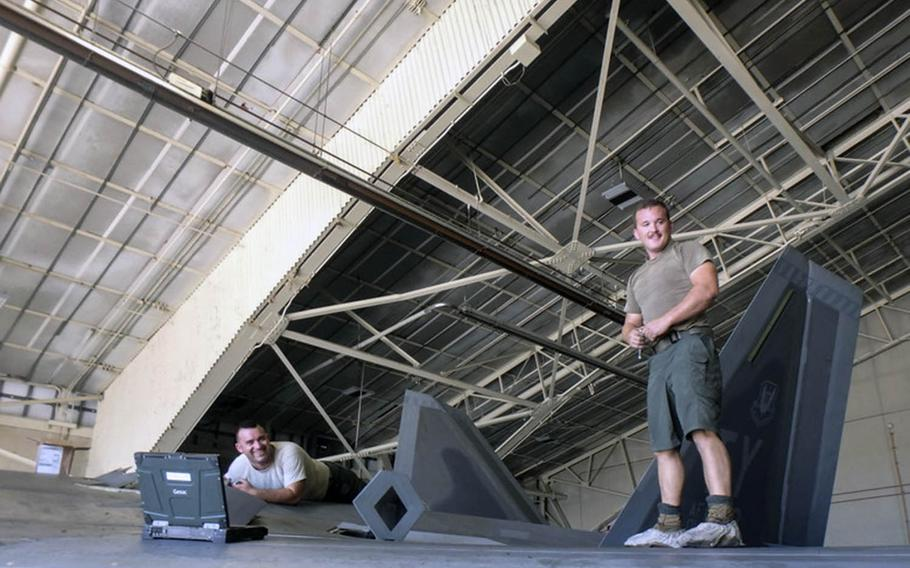 Airmen at three Air Force bases across the U.S. were authorized in July to wear approved shorts while working on the flight lines, like these airmen in an undated photo.