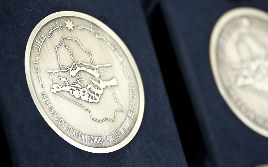 The Iraq Commitment Medal, which was unveiled in December 2011, is supposed to recognize the work of U.S. and coalition troops who served in Iraq following the fall of dictator Saddam Hussein's regime in 2003.