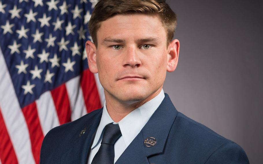 Air Force Staff Sgt Adam Erickson was killed during a military training parachute operation in Perris, Calif., Sept. 10, 2019.