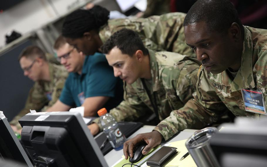 U.S. servicemembers, civilians and partner nations participate in the Cyber Flag exercise in June in Suffolk, Va.