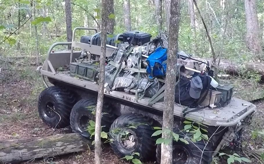 The Small Multipurpose Equipment Transport system developed by General Dynamics Land Systems can cover more than 60 miles in 72 hours, and carry 1,000 pounds. The battery-operated machines are expected to begin arriving at units in 2021, the Army said in a statement.
