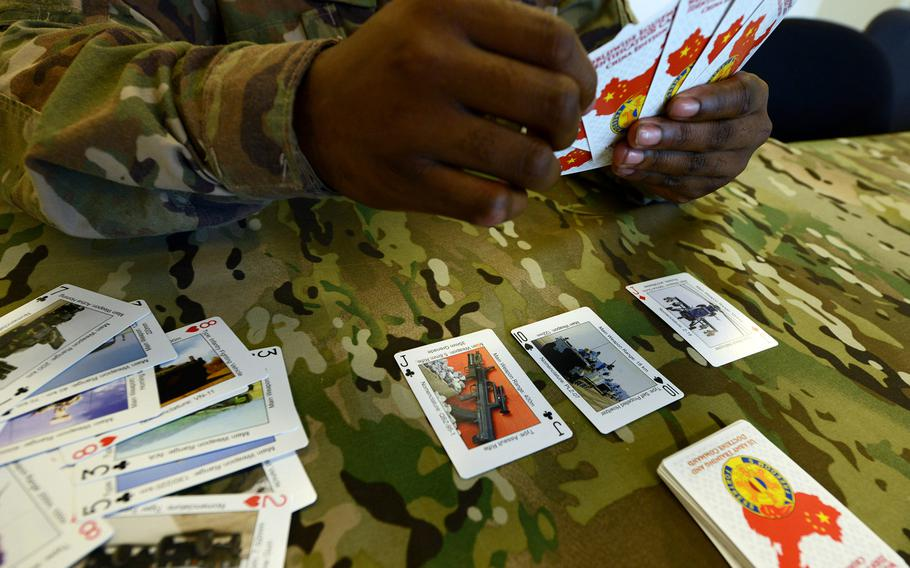 Worldwide equipment identification cards, released by Army Training and Doctrine Command, help soldiers recognize vehicles and weapons used by Russia, China and Iran.