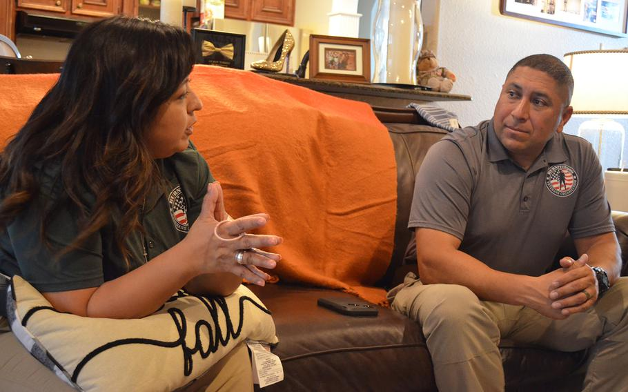 Rosie and Le Roy Torres discuss a lawsuit they filed against the Texas Department of Public Safety after Le Roy Torres was forced to resign from his job as a state trooper because of a lung disease he developed while deployed to Iraq as an Army Reserve captain. Their financial situation became so strained they nearly lost their home in Robstown, Texas to foreclosure.