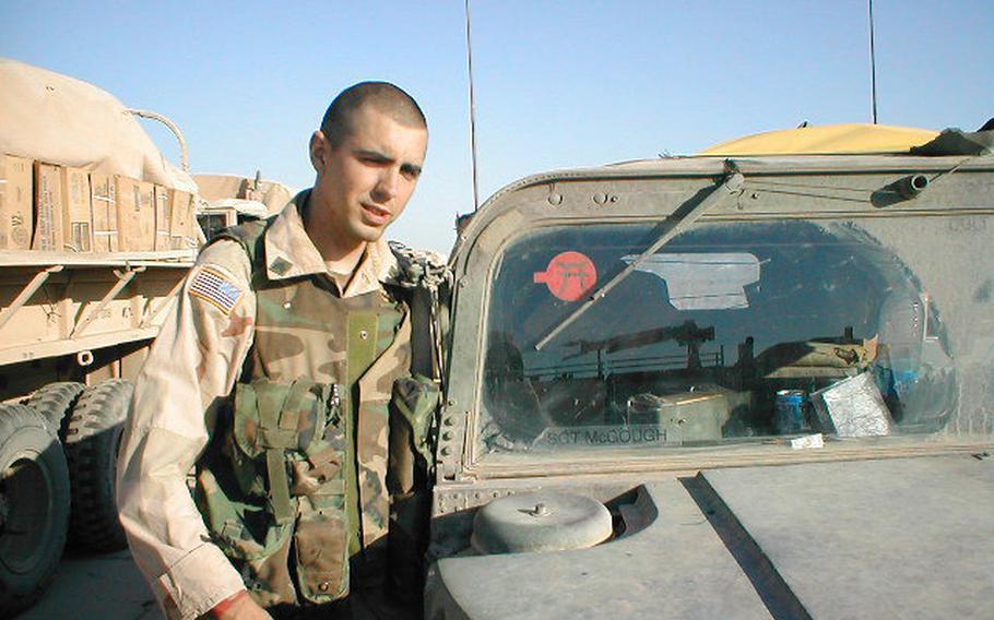 Iraq War veteran Brian McGough.