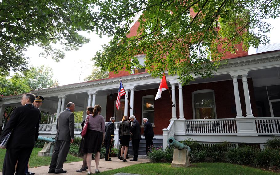 The Army chief of staff home on Fort Myer, Va., during a reception in 2008. The Army is requesting $47 million in 2021 for general and flag officer housing costs connected to operations, maintenance and leases.