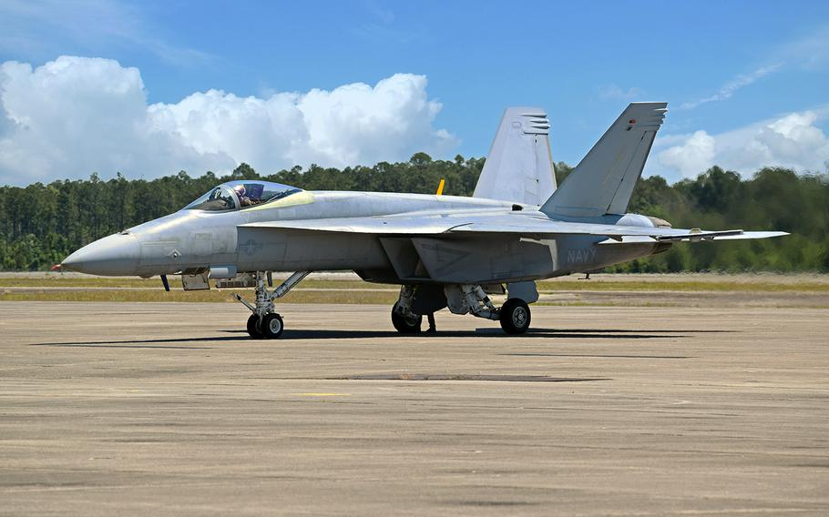 The first F/A-18 Super Hornet for the Navy's Blue Angels demonstration team was delivered for testing and evaluation, June 3, 2020.