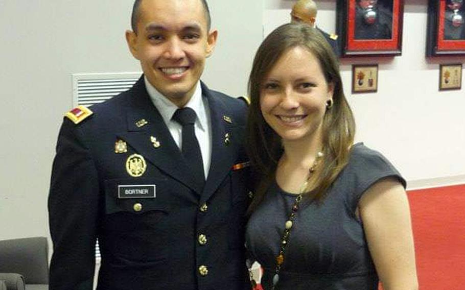 Andrea and Jerry Bortner, now an Army captain, pose in an undated photo. The couple bought a home near Fort Belvoir, Va., but were unable to move in due to a Pentagon stop-movement order, which left them paying for two homes at the same time, while receiving one housing allowance.
