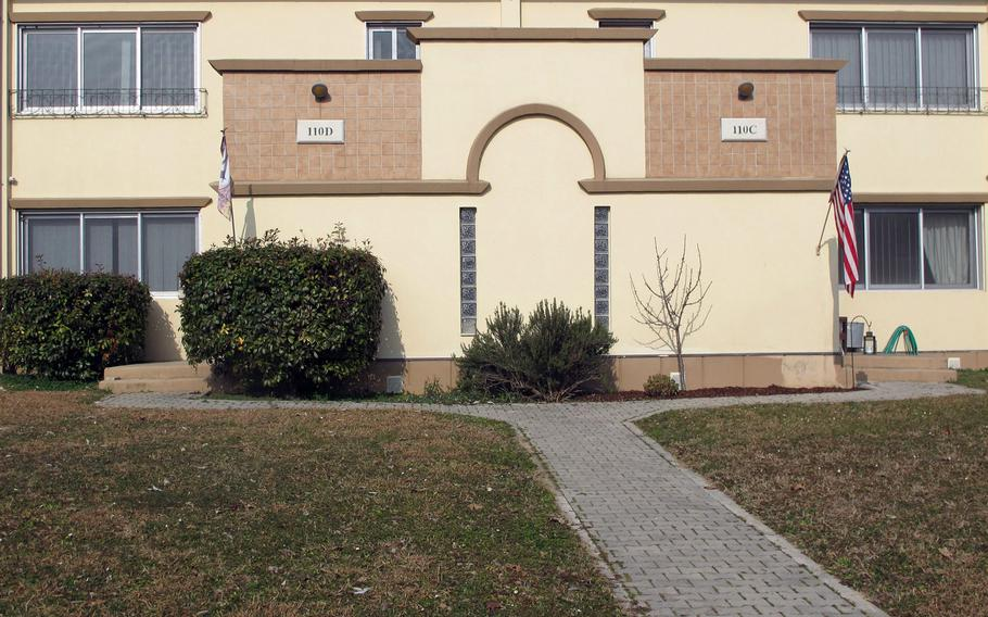 A duplex on Villagio, U.S. Army Garrison Italy's on-base housing.  Army-owned and -leased housing in Stuttgart, Germany and Italy ranked 23rd and 24th, respectively, out of 26 sites examined in a quality survey conducted in the U.S. and overseas, a report released June 22, 2020 says.