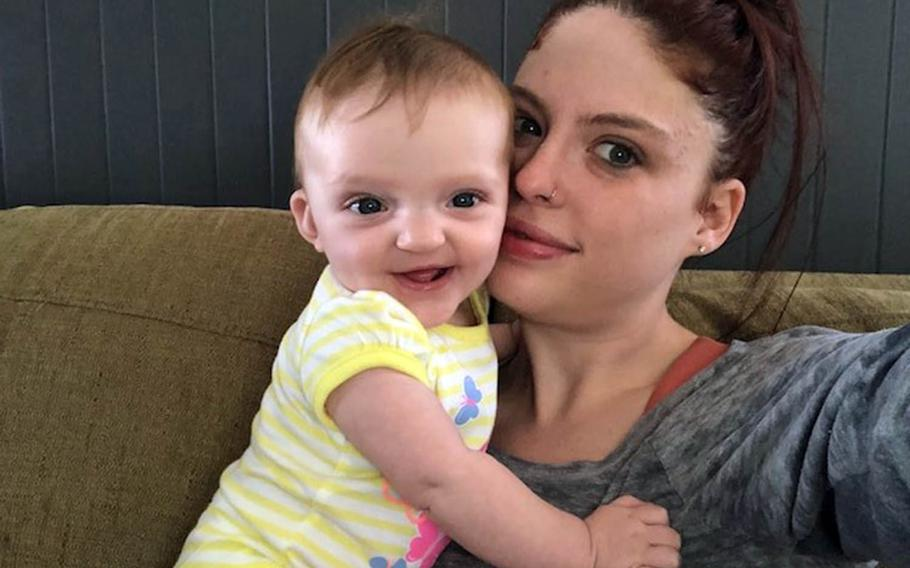 Anna Lobisch poses with daughter Abigail, who died in Honolulu, Feb.24, 2019.