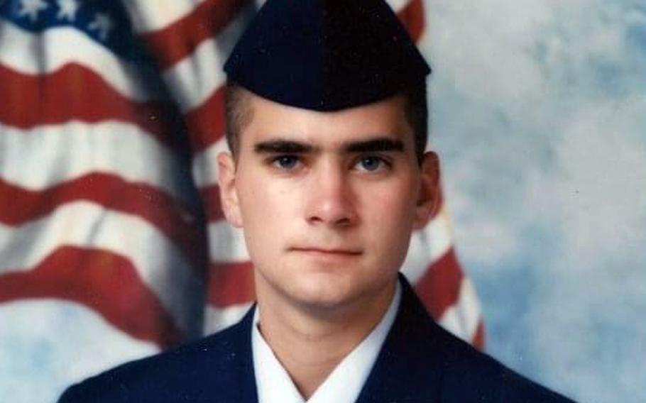 Brian Sicknick, a Capitol police officer who died of injuries suffered during the Jan. 6 attack on the U.S. Capitol, was a former member of the New Jersey Air National Guard who served two overseas tours. He is pictured in this undated photo during his time in the Guard.