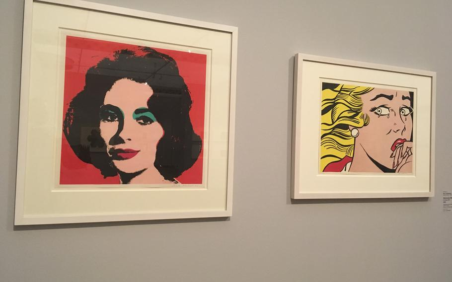 Roy Lichtensteinís ''Crying Girl'' and Andy Warhol's portrait of Elizabeth Taylor are among the featured works at the Stuttgart Staatsgalerie's exhibition on American graphic artists.