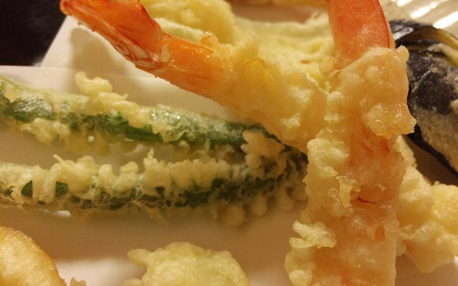 At around $15, Kobuta's large tempura set is pricey but includes generous portions.
