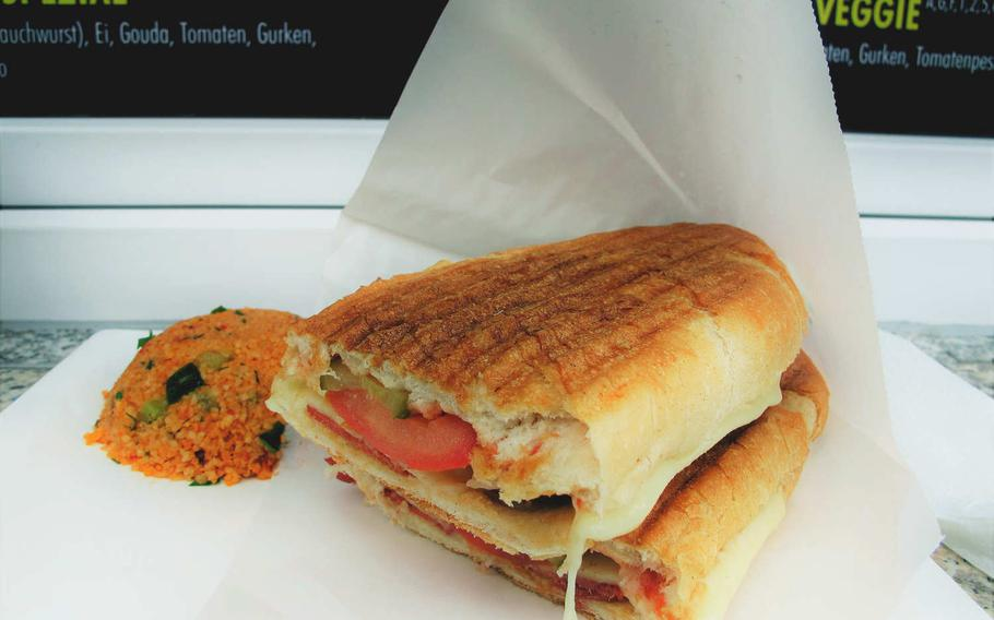 Toasty's, a new sandwich joint  in downtown Kaiserslautern, Germany, offers a simple regular menu of six sandwiches. Three of those sandwiches feature sujuc, a spicy garlic sausage popular in Eastern Europe and the Middle East.