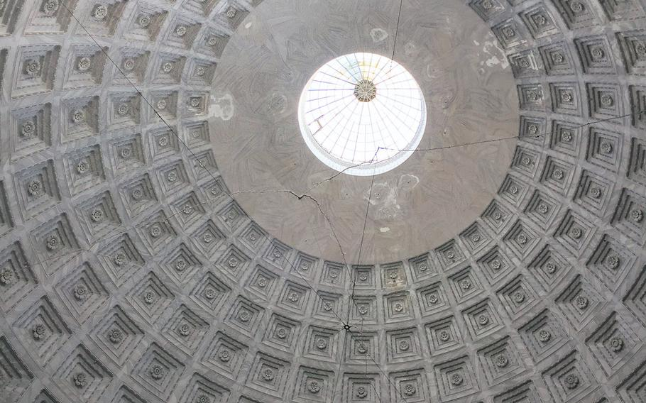 The cathedral's majestic domed ceiling and round skylight are like a celestial eye.