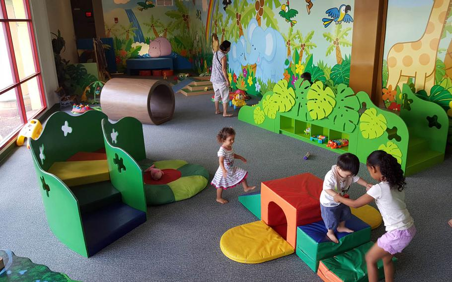 """The playground in the """"Rainforest Adventures"""" exhibit at the Hawaii Children's Discovery Center lets kids climb, jump and romp till they drop."""