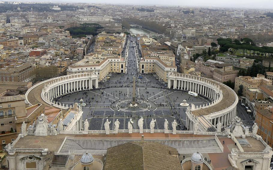 A climb to the top of St. Peter's Basilica reward the intrepid with beautiful views of Rome. USO Rome is offering tours of the ancient city.