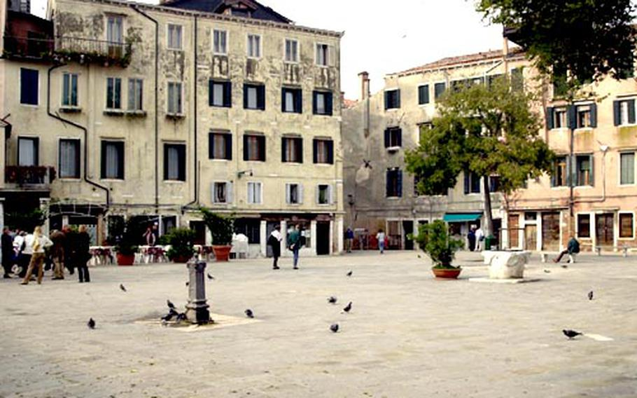 The Campo Ghetto Nuovo, the heart of the Venice ghetto.