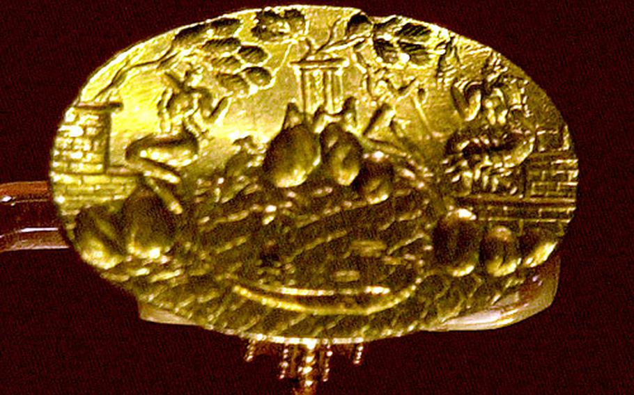 The newly-rediscovered Ring of Minos is the pride of the Iraklion Archaeological Museum.