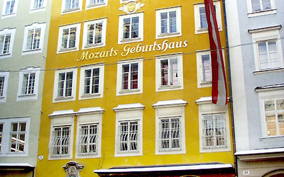The Geburtshaus (Mozart's birthplace) is now a museum dedicated to the composer and his life in Salzburg.