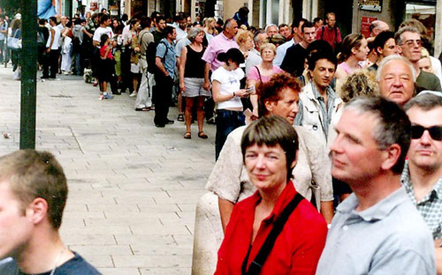 The line for the Dali Teatre Museu in Figueres was so long the end was not in sight.