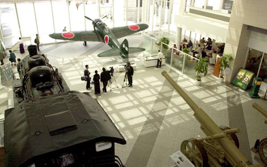 The lobby area of the museum at Yasukuni Jinja musuem.