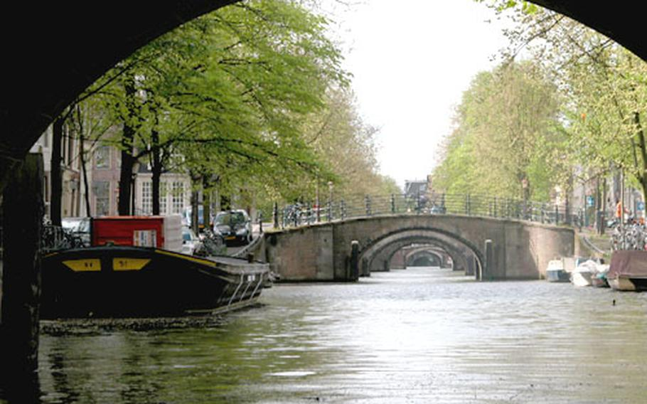 The boat ride in Amsterdam offered views like this.