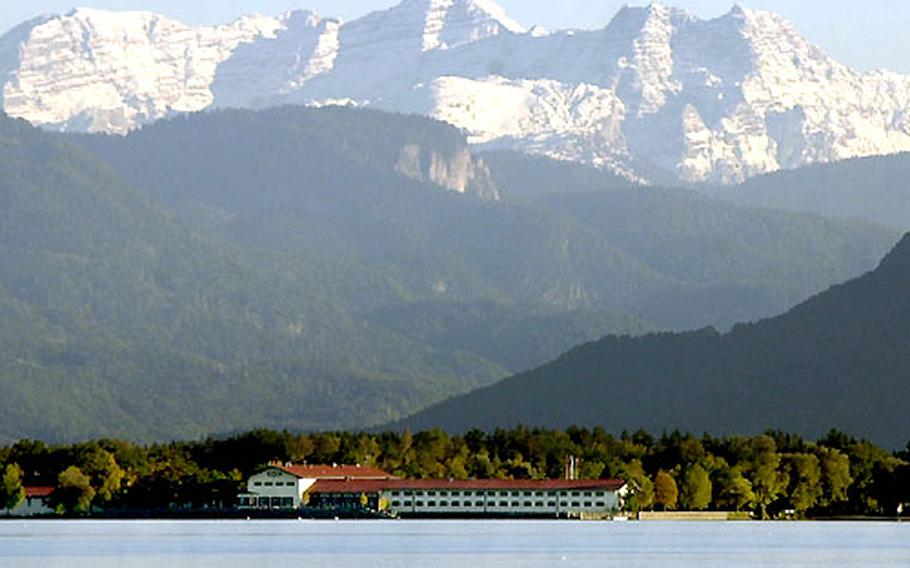 The beautiful setting of AFRC Chiemsee, with the Alps in the distance. The Chiemsee complex will close for a second time in September, this time for good.
