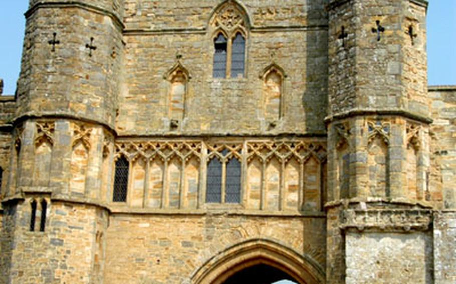 The gate to Battle Abbey is a well-known landmark for tourists visiting the site of William of Normandy's victory over the Saxon King Harold in 1066.