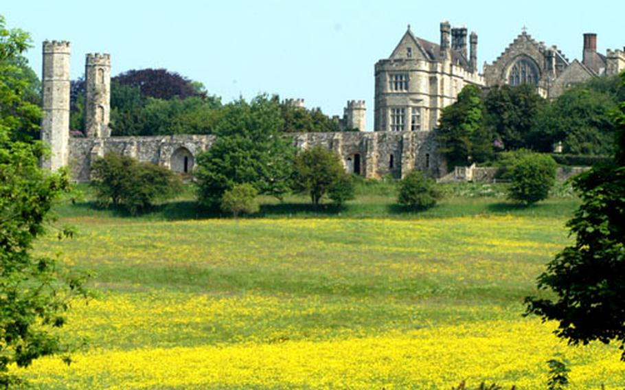 Wildflowers grow where thousands died during the battle of Hastings in 1066. The conflict on this gentle slope is a major hallmark in the history of England. In the background is the ruin of the abbey built by William the Conqueror to honor his victory.
