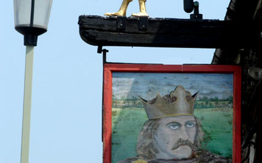 The King's Head pub is a wonderful place for refreshment when visiting Battle, England.