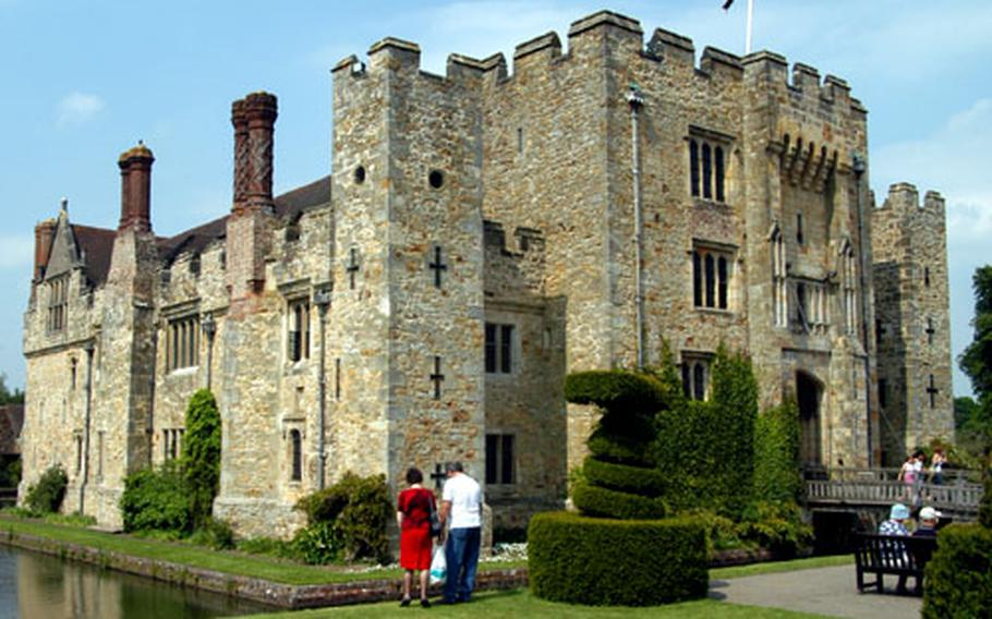 The oldest part of Hever Castle dates to the 13th century. In 1501, Anne Boleyn, who would marry Henry VIII, was born here. Tours include her childhood bedroom and a look at two prayer books inscribed and signed by her.