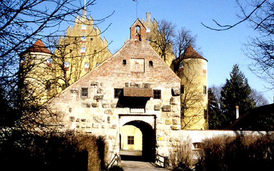 The 1,000-year-old structure at the entrance to Schloss Erbach is all that remains of the original castle that occupied the site near Ulm, Germany. The Renaissance castle behind the entrance was built in 1530.