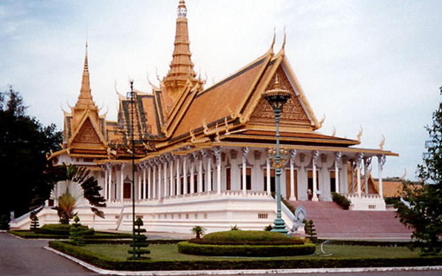 The Throne Hall of the Royal Palace in Phnom Penh is only used during coronation ceremonies, a rare event.