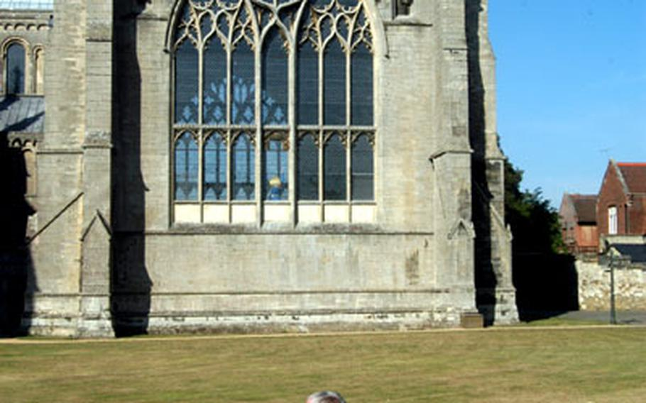 The cathedral grounds in Ely, England, are a great place for people to sit and reflect while gazing at one of the world's great buildings.