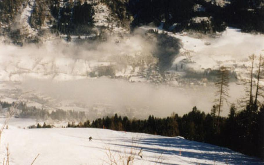 The long — five mile — run to the bottom of the Bad Hofgastein slopes is a delight and not usually crowded.