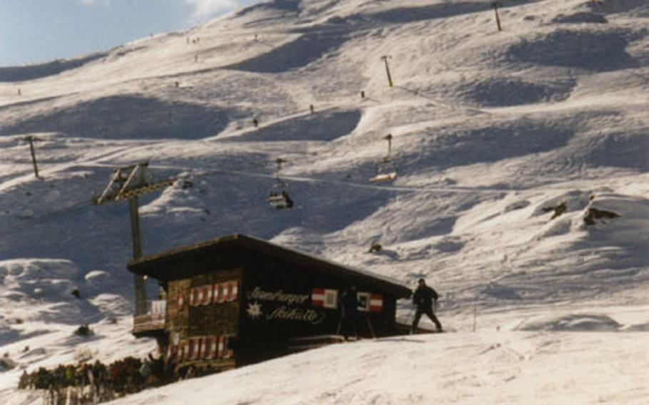 Snowboarders and skiers alike enjoy the 125 miles of slopes in the Gastein valley.
