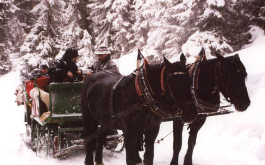 At the Carinthia resort of Katschberg, a sleigh ride through the woods to the Pritzhütte is a unique adventure with good food, drink and fun awaiting at the mountain hut.