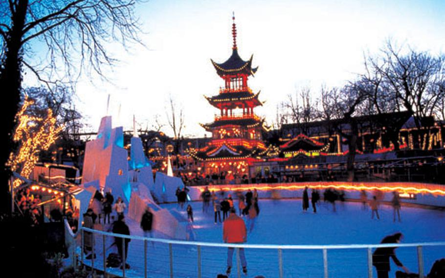 One of the world's oldest and best-known amusement parks, Tivoli is the venue of the biggest Christmas market in Scandinavia, with restaurants, ice-skating, gift stalls and a traditional Christmas fair.