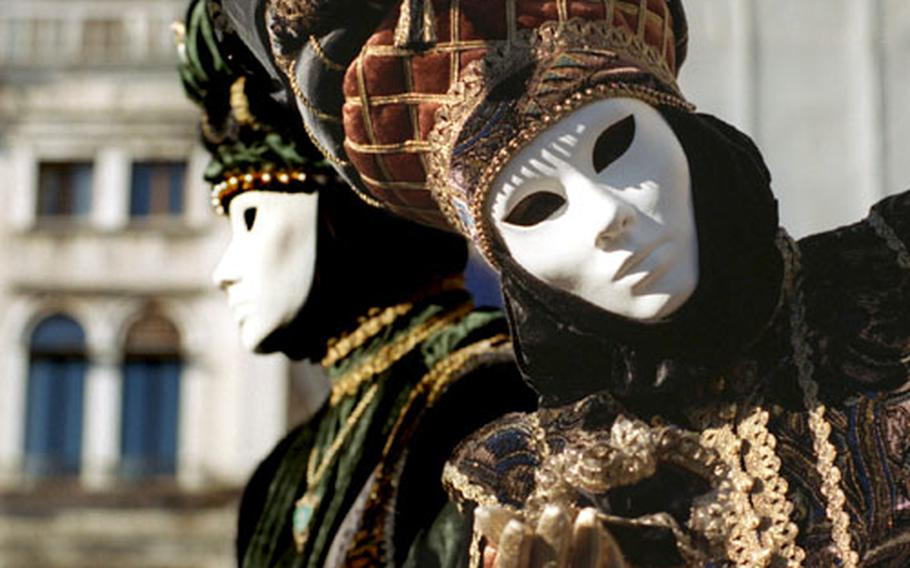 In Venice, elaborate and elegant masks put the emphasis on mystery. Who could it be behind the mask?