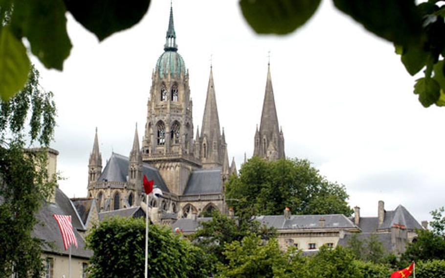 The Gothic cathedral of Bayeux was built between 1165 and 1205.