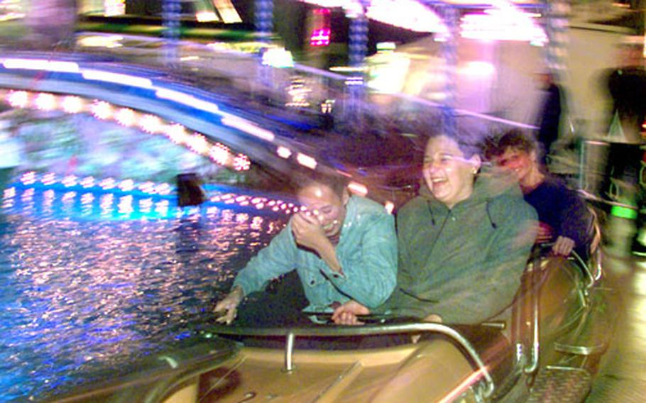 The Oktoberfest is not just about beer; there are plenty of rides for the whole family to enjoy.