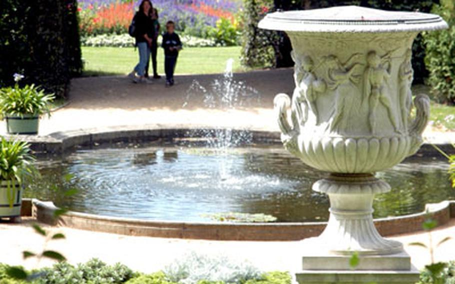 A view of the Sicilian Garden.