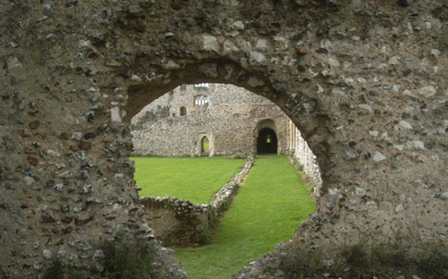 The walls where a group of monks once worshipped and prayed are now ruins at Castle Acre priory, about 30 miles north of RAF Lakenheath and RAF Mildenhall in England.