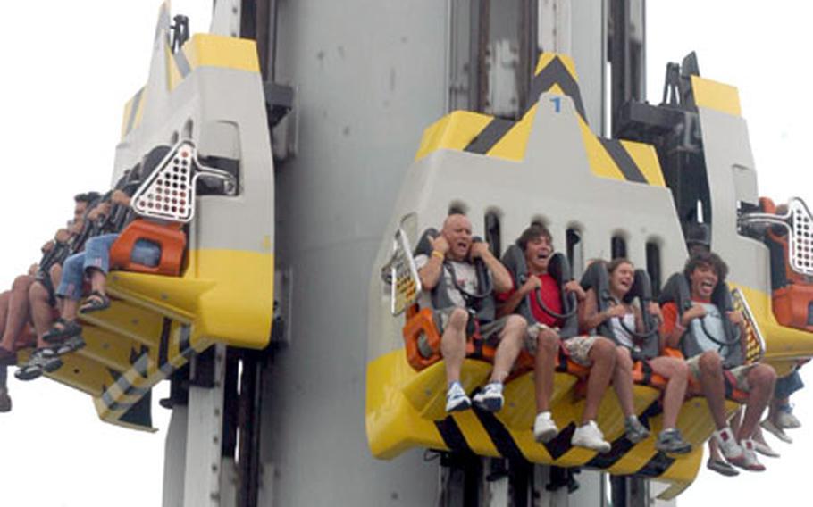 A large-scale bungee jump on Space Vertigo.