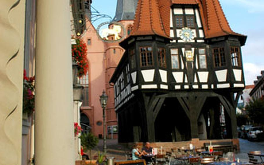 On the main square, Michelstadt's Rathaus, or town hall, dates to the 15th century.