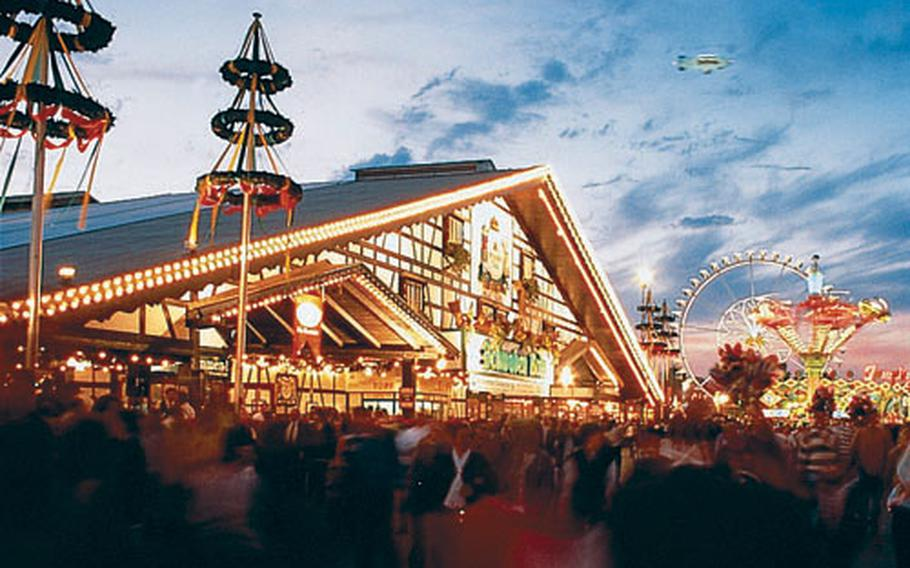 The Canstatter Volkfest is about one-third the size of Oktoberfest but offers many of the same attractions.