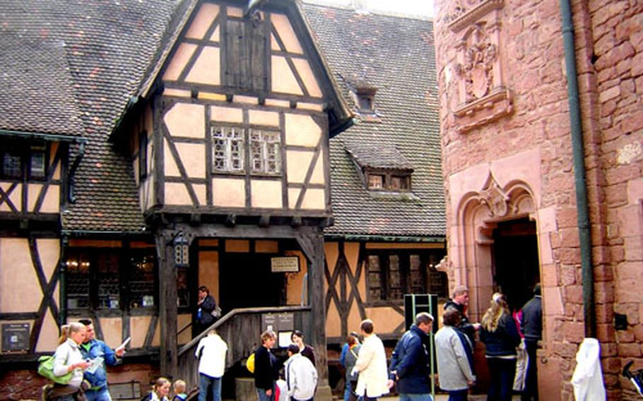 Haut-Koenigsbourg has been restored, giving a good idea of what it looked like in the 15th century. The half-timbered building now houses a restaurant and small gift shop.